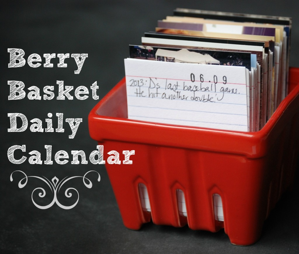 Make this daily journal calendar and jot down one thing that happened each day. Great way to remember the little things!