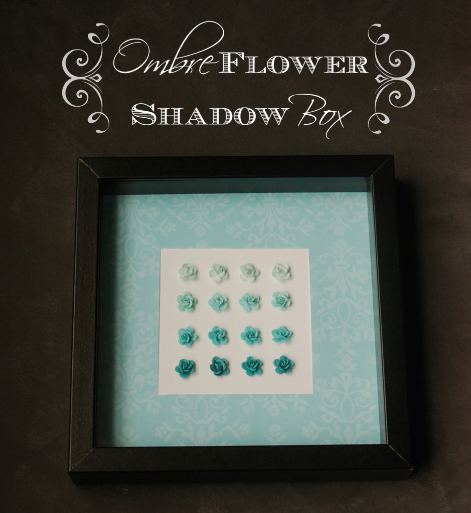 Ombre Flower Shadow Box from Endlessly Inspired