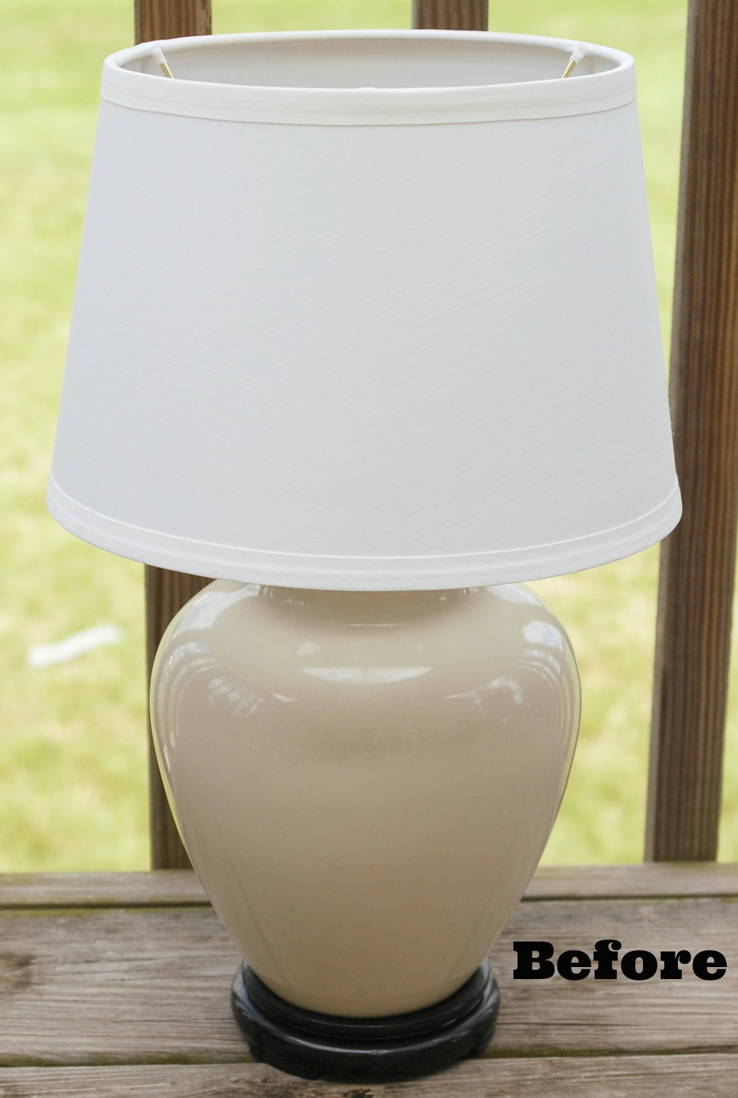 Table Lamp Makeover White Lights On Wednesday