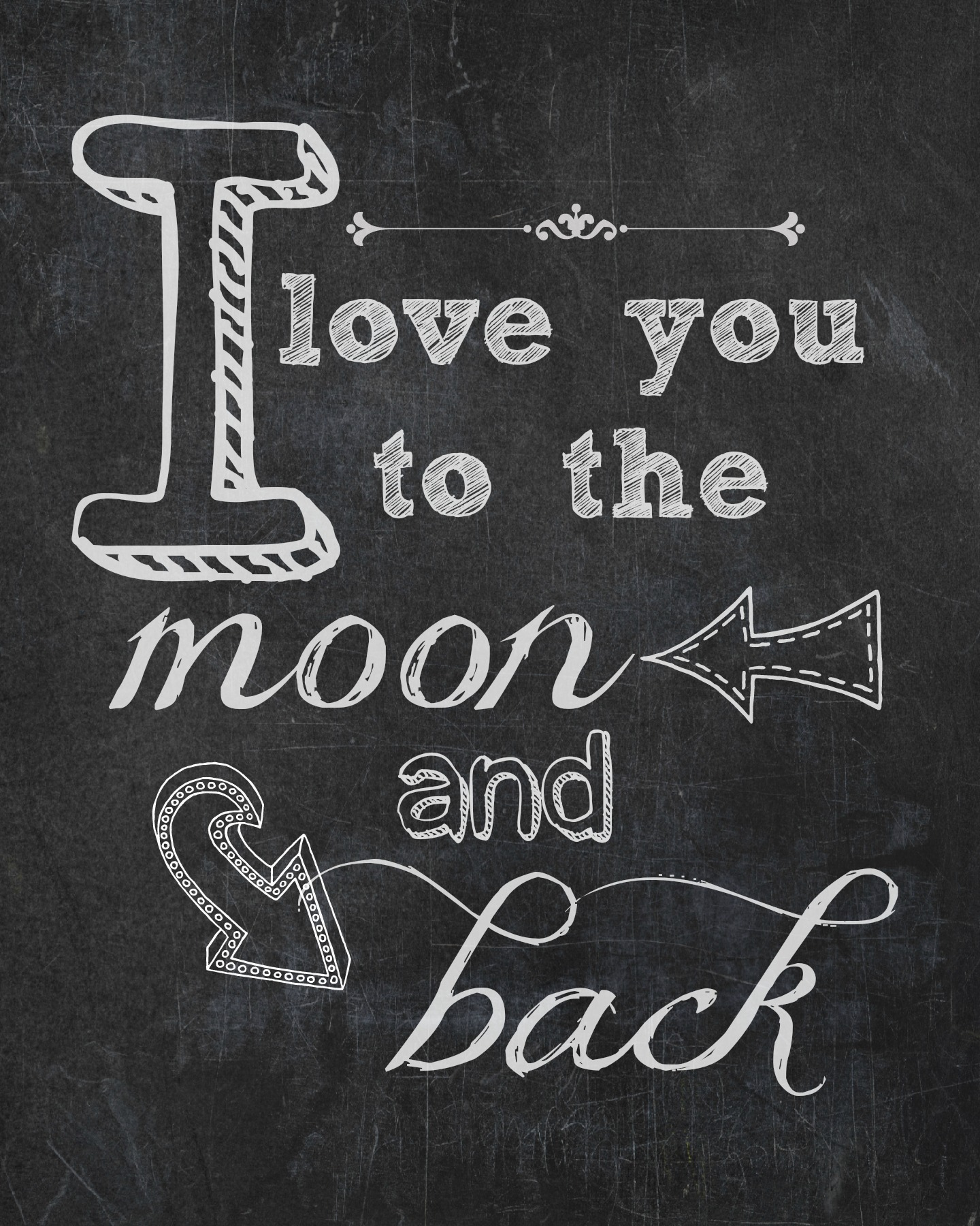 i love you to the moon back free printable endlessly. Black Bedroom Furniture Sets. Home Design Ideas