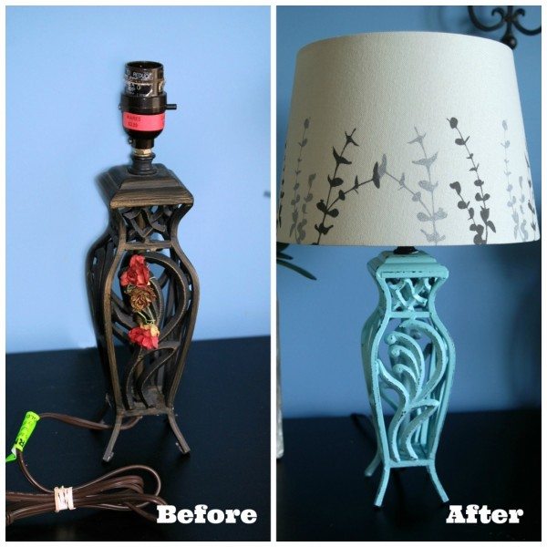 $2 Goodwill Lamp Makeover