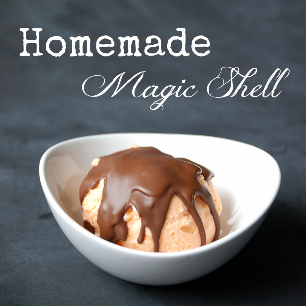 Make homemade magic shell ice cream topping in about a minute, with only two ingredients!!