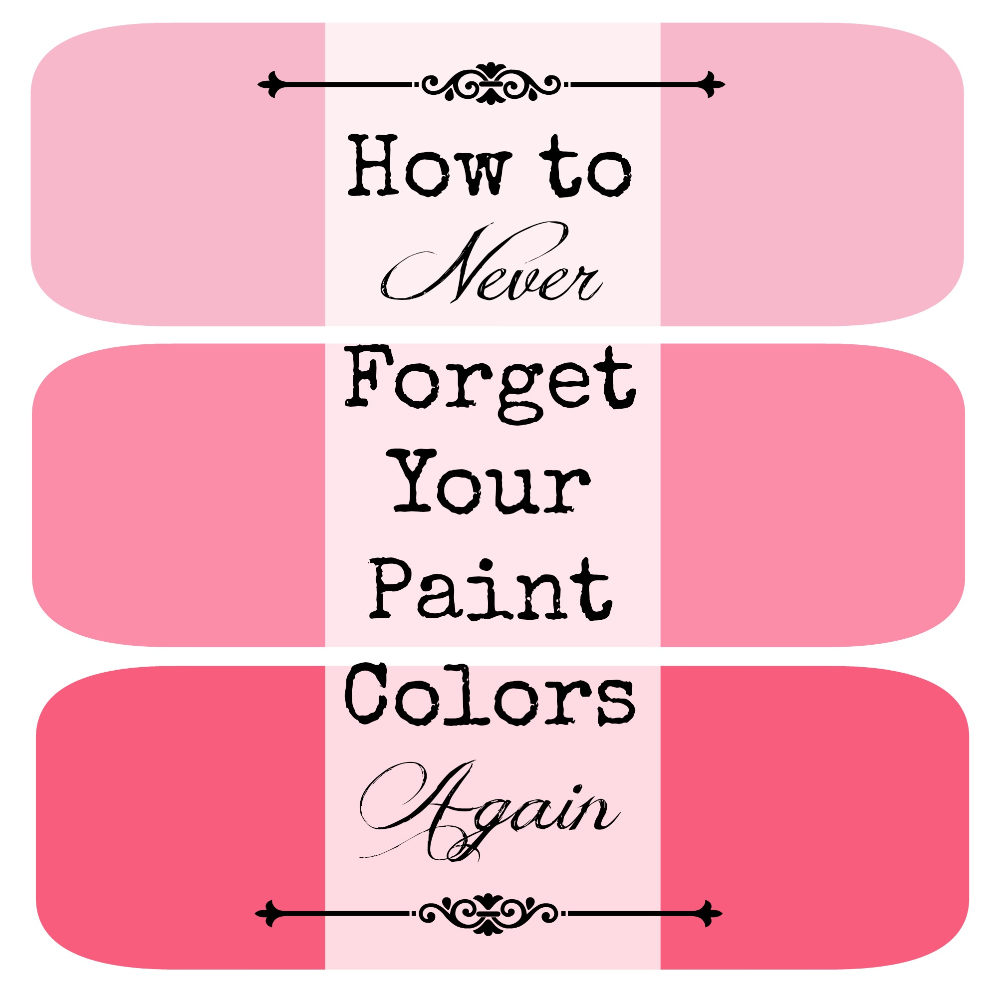 A totally simple, yet totally genius way to make sure you never forget what color you painted a room again.