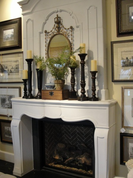 Try arranging items by size on a mantel