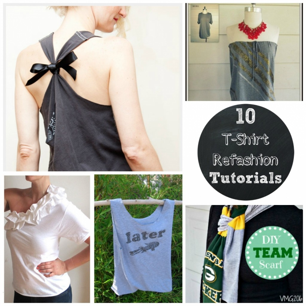 10 amazing t-shirt refashion tutorials
