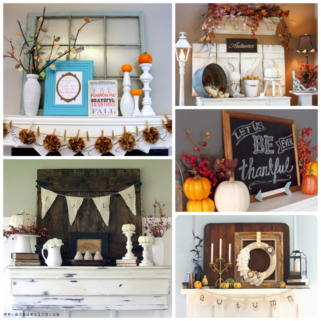 The Ultimate Thanksgiving Ideas Collection – Thanksgiving Mantel Decorations
