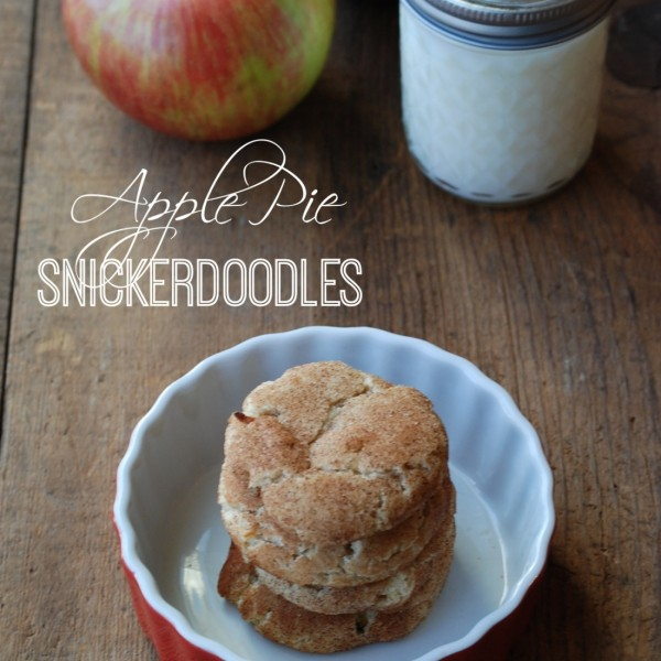 With just a few tweaks to a basic snickerdoodle recipe, you can make crazy good cookies with all the flavors of apple pie!