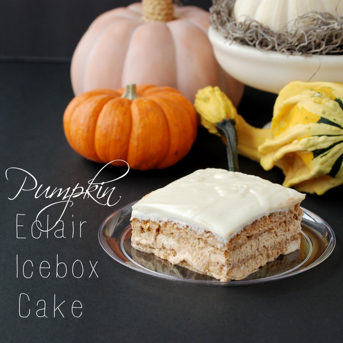 Pumpkin Eclair Icebox Cake: An easy, delicious, no-bake pumpkin icebox cake
