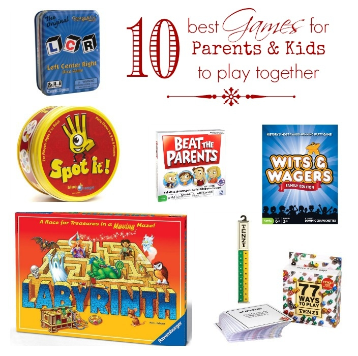 The 10 best games for parents and kids to play together. Great holiday gift guide!