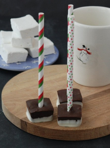 Make hot chocolate on a stick - what a fun treat for the holidays, or anytime!