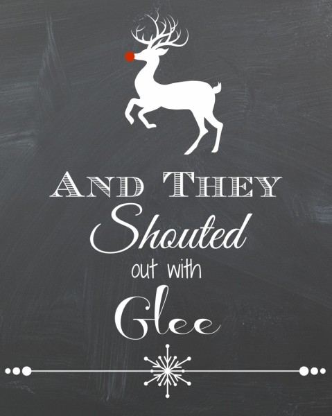 And They Shouted Out With Glee Free Printable