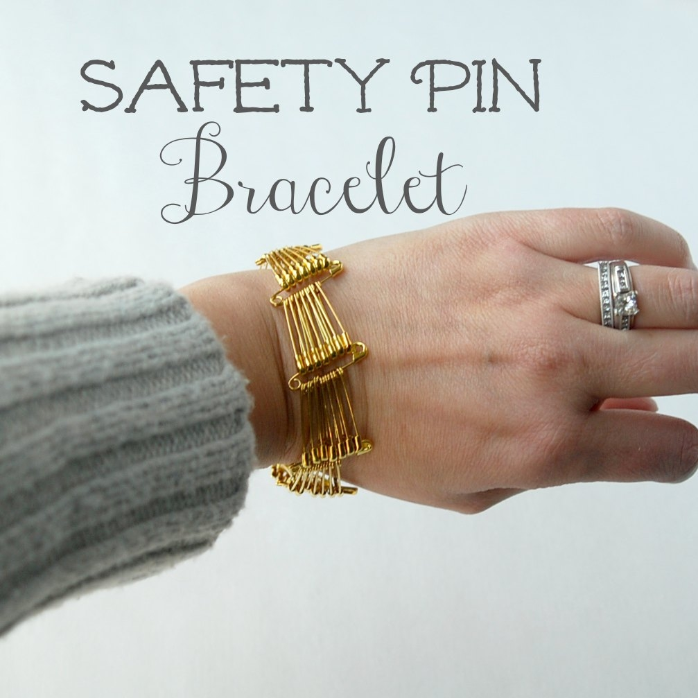 Safety pin bracelet tutorial endlessly inspired for Safety pins for jewelry making