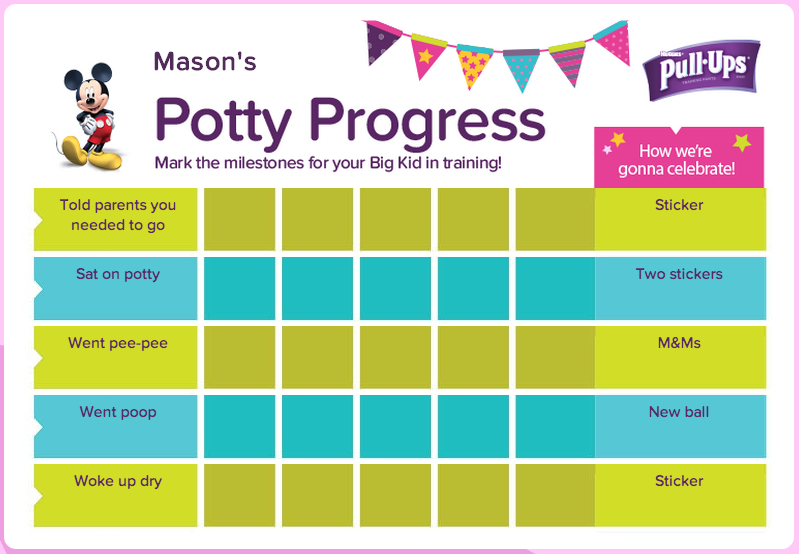 diy potty training chart