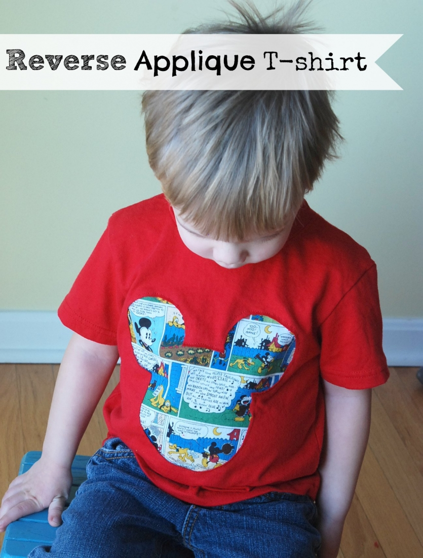 Reverse applique t shirt tutorial endlessly inspired for Applique shirts for sale