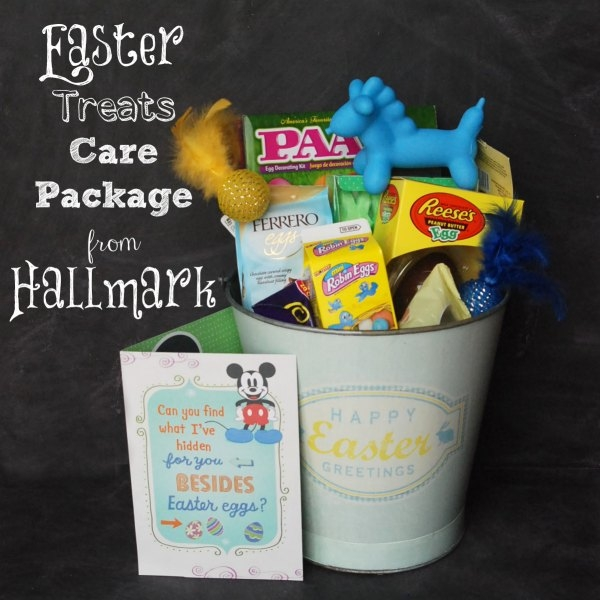 Put together an Easter treats care package for a loved one with Hallmark #EasterValue cards. #CollectiveBias