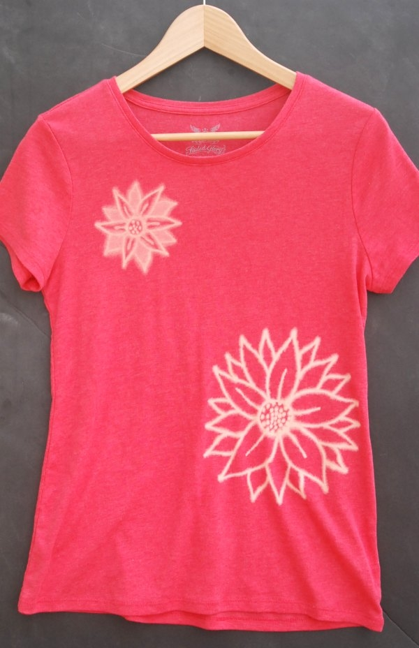 Use a Clorox bleach pen to create awesome designs on a plain t-shirt!