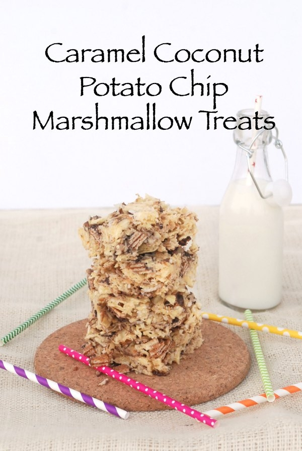 caramel coconut potato chip marshmallow treats endlessly