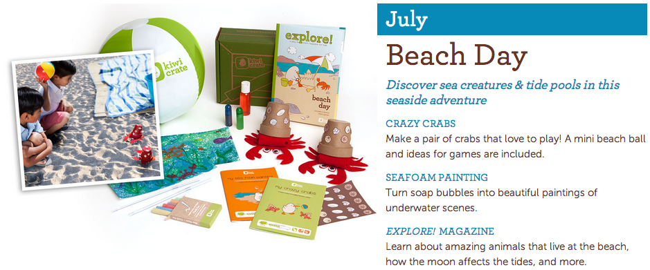 Kiwi Crate is a monthly subscription service that offers monthly delivery of hands-on, educational projects designed for kids ages 3-8. #KiwiSummerFun