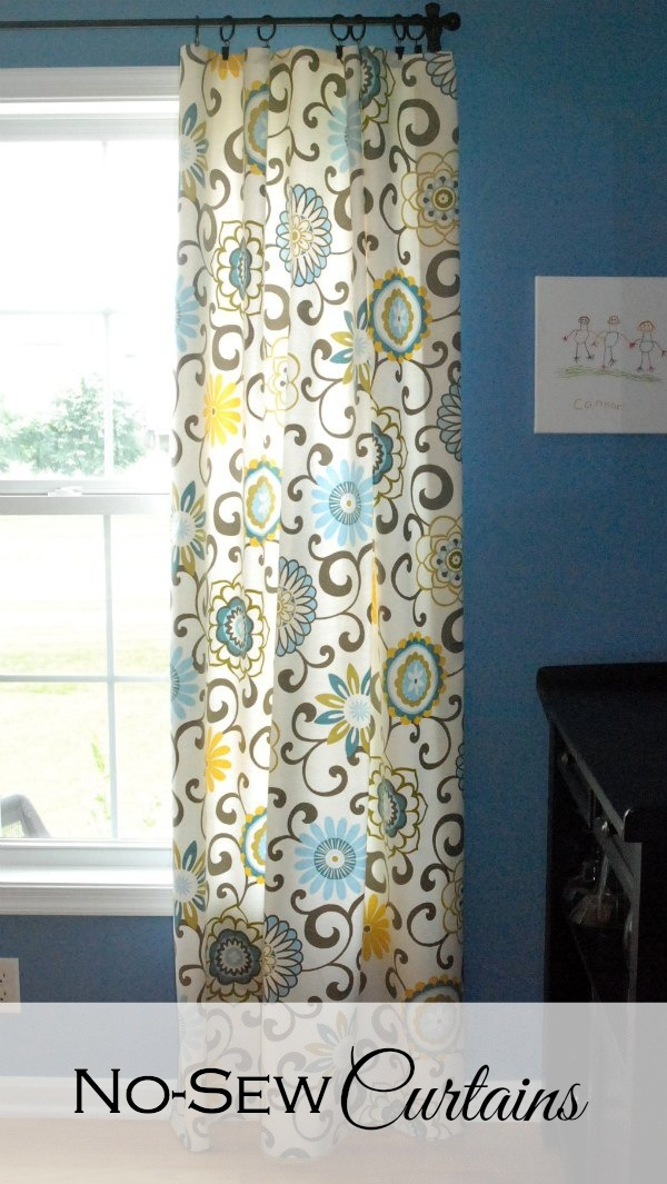 No sew curtains endlessly inspired How to make a valance without sewing