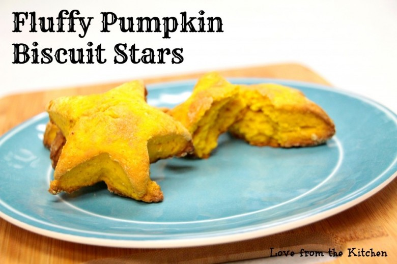 These fluffy pumpkin biscuit stars are so delicious, and way easier to make than you'd think! #31DaysofHalloween