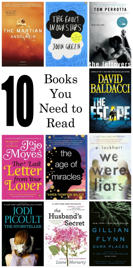 If you are looking for some new books to read, check out this great list of 10 amazing page-turners. Pinning this to keep for my Amazon wishlist!