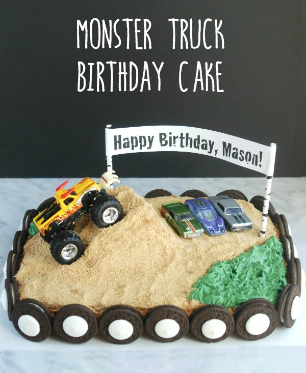 Sensational Easy Monster Truck Birthday Cake Endlessly Inspired Funny Birthday Cards Online Elaedamsfinfo