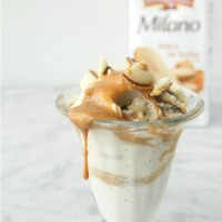 "Get a little ""you time"" with an ice cream sundae made with vanilla ice cream, homemade dulce de leche and Pepperidge Farm Dulce de Leche Milano Cookies."