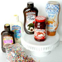 Use a variety of Smucker's ice cream toppings to create a fun ice cream sundae party! #SundaeFundae #ad