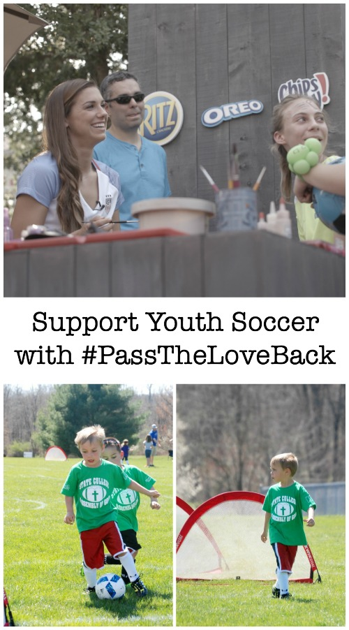With the #PassTheLoveBack campaign, community soccer teams can create sponsorship pages and earn custom apparel, including uniforms, t-shirts and warm-up gear.