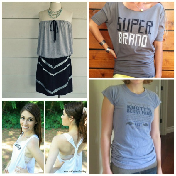 This collection of t-shirt refashions is amazing. I can't believe some of these started off as t-shirts!
