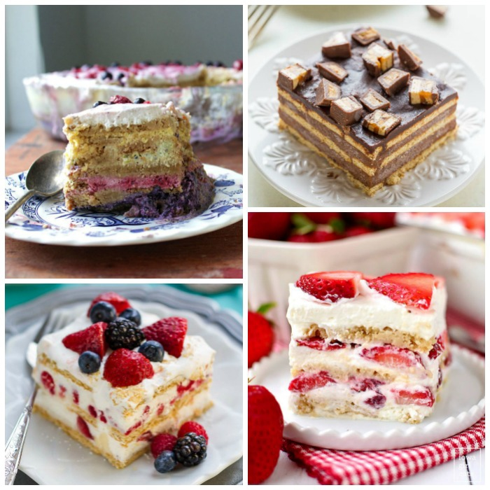Icebox cakes are a great quick and easy no-bake dessert. This is a collection of 24 amazing icebox cake recipes!