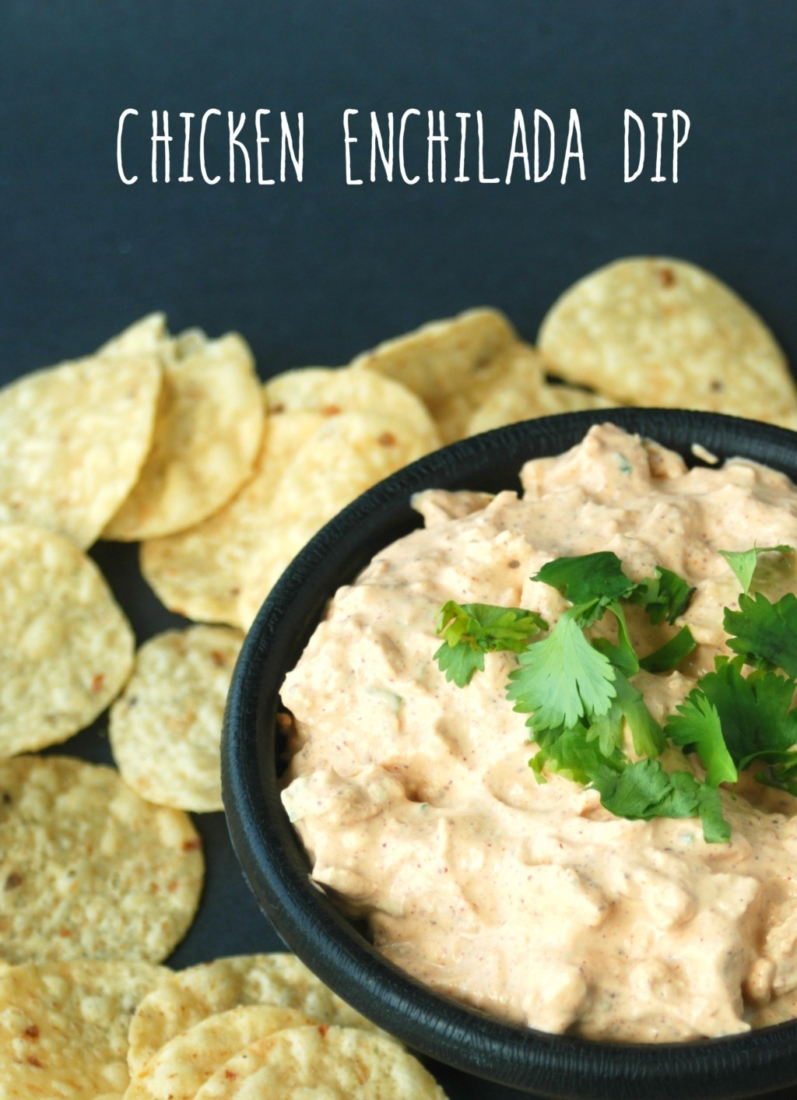 This chicken enchilada dip is creamy, easy-to-make and absolutely delicious. It will be the hit of your next party or tailgate!