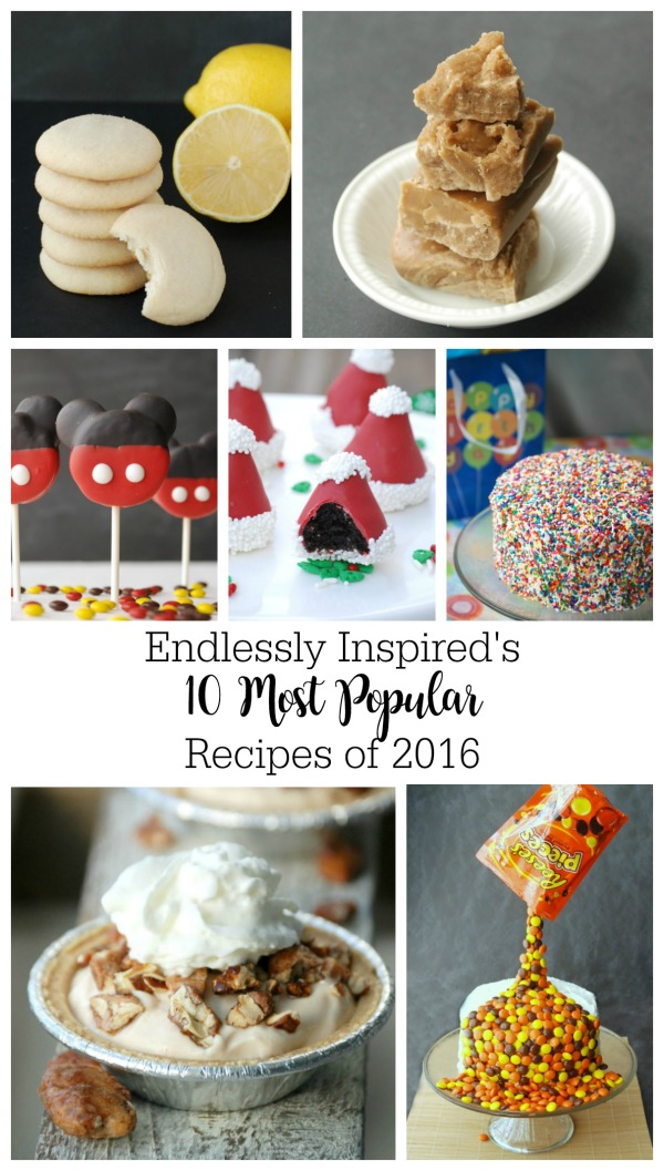 The 10 most popular recipes from Endlessly Inspired in 2016