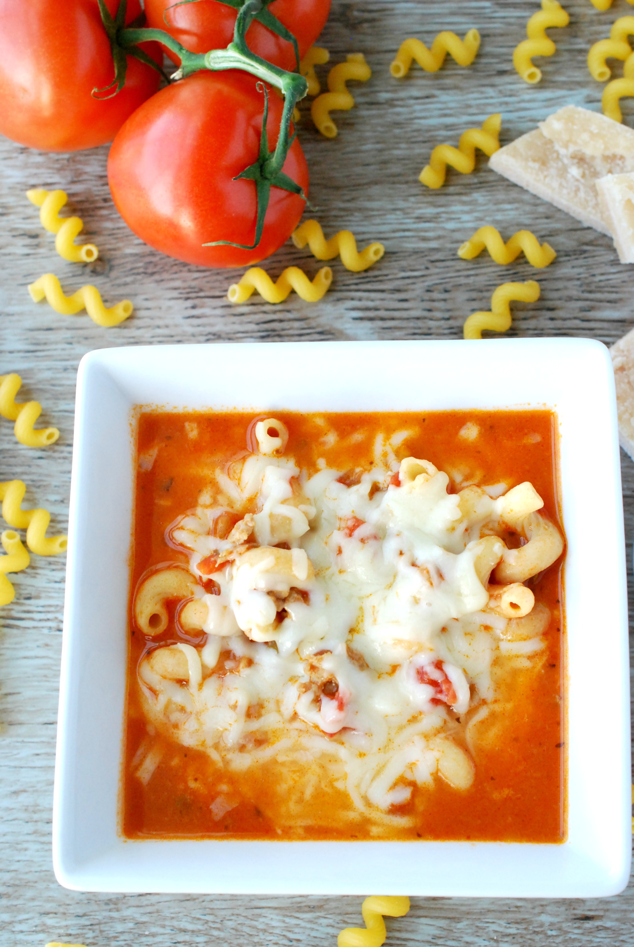 Lasagna soup is a quick, easy, and slightly healthier way to get your lasagna fix!