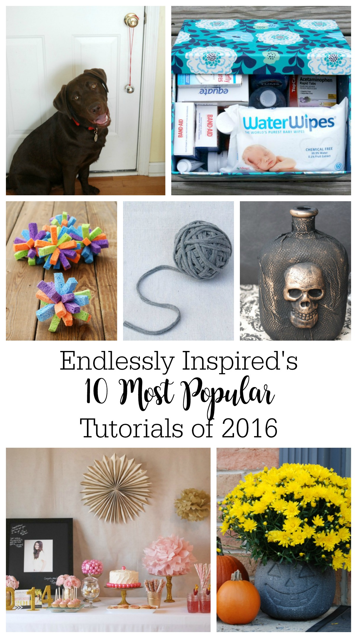 The 10 most popular tutorials from Endlessly Inspired in 2016