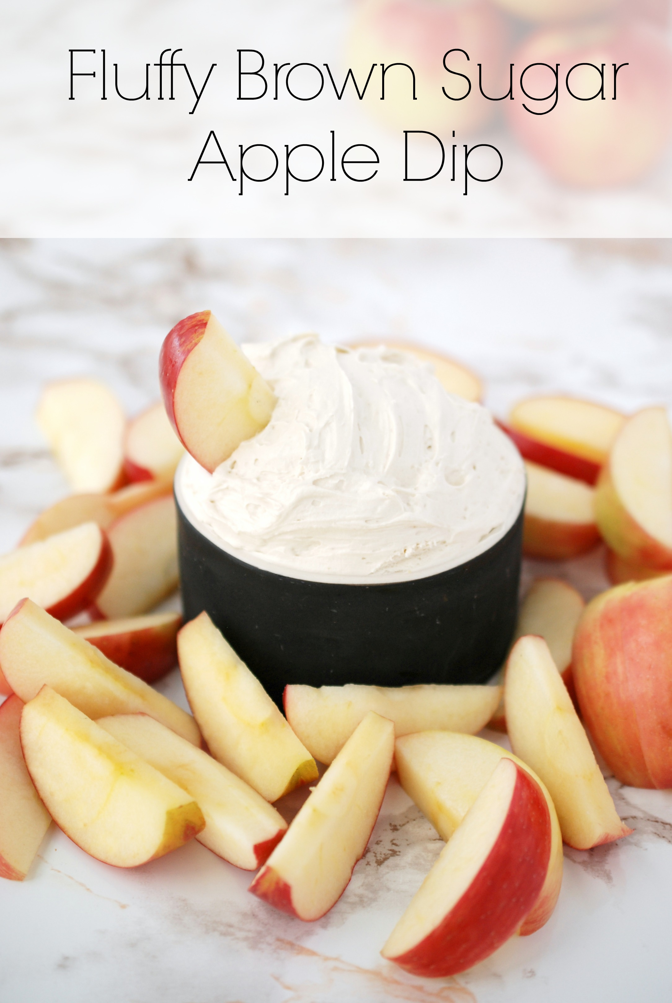 This 4-ingredient Fluffy Brown Sugar Apple Dip is sweet and delicious -- and a perfect addition to your Super Bowl party!