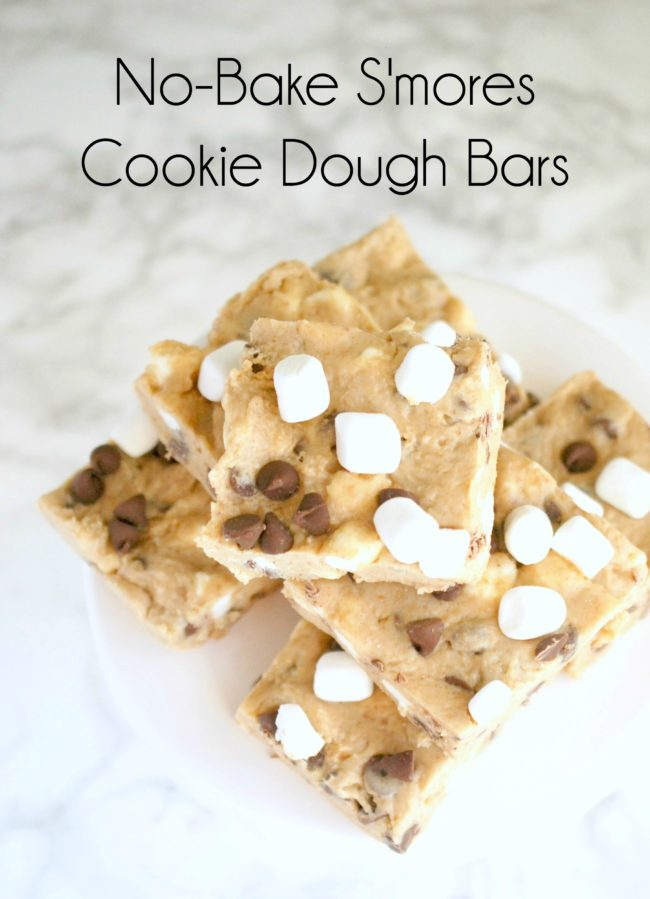 OMG. No-bake bars that taste like s'mores and cookie dough. Yes please ...